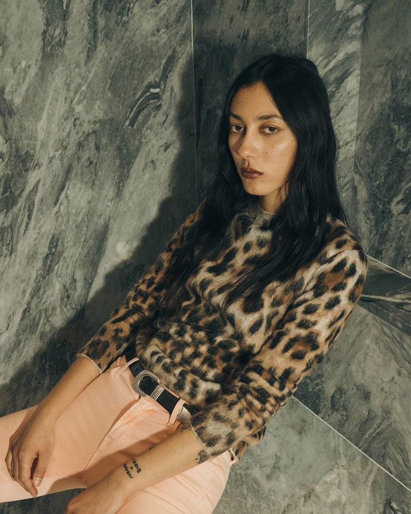 Saint Laurent Leopard-Print Mohair-Blend Sweater