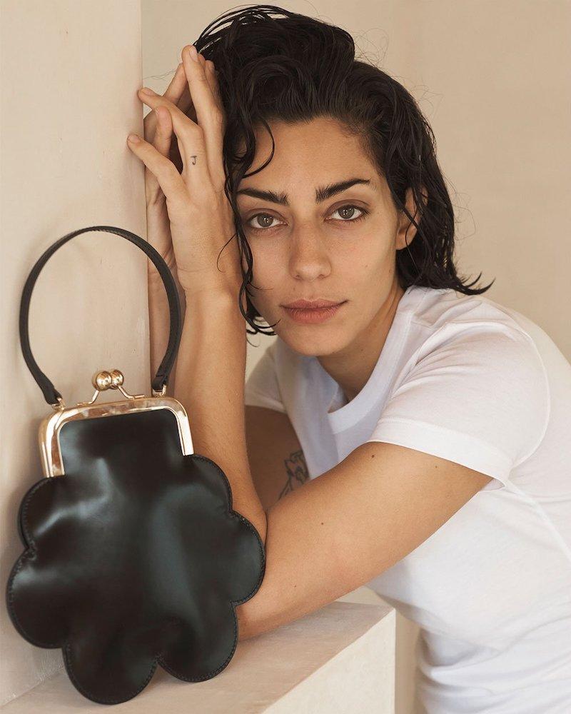 Simone Rocha Flower Leather Cross-Body Bag