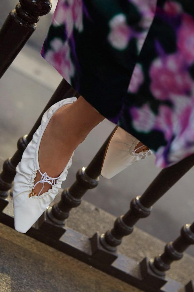 Stella McCartney Lace-up Ballet Pumps