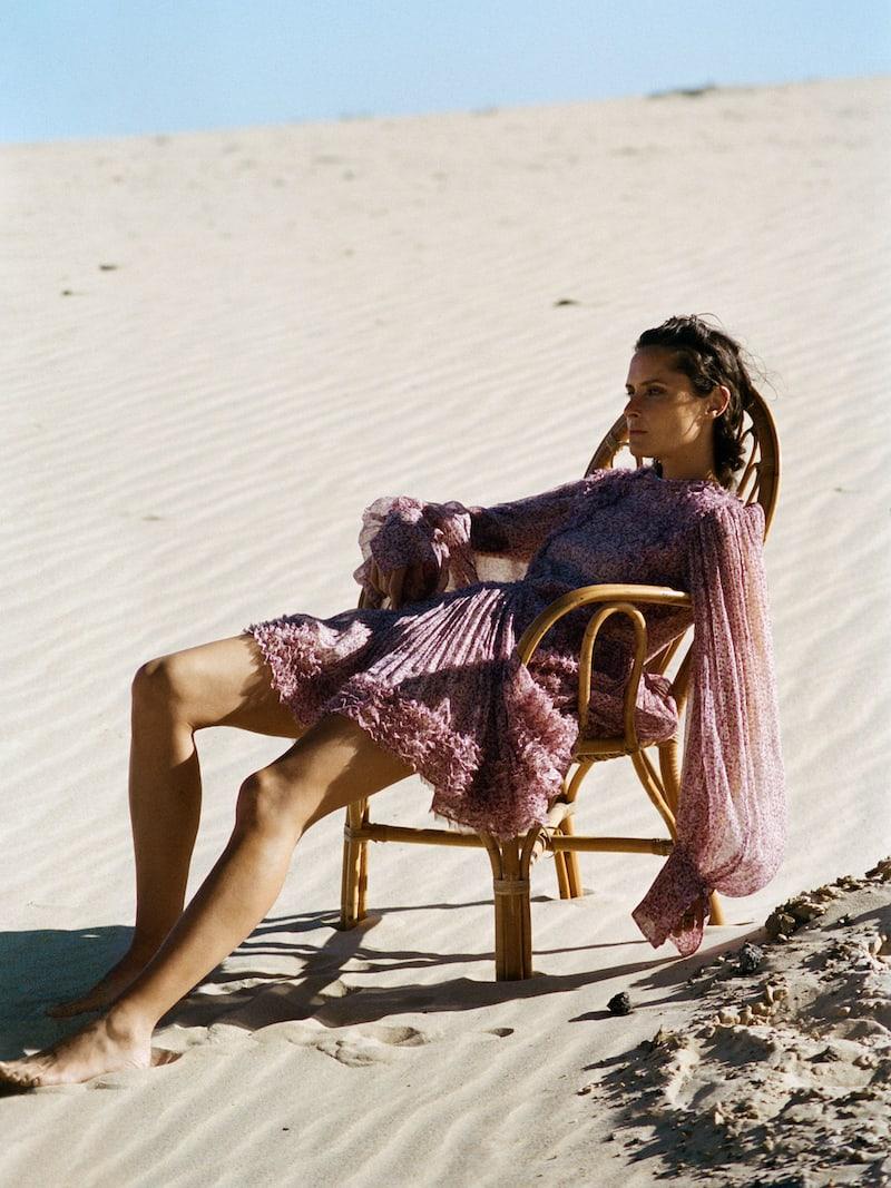 Stella McCartney Ruffled Floral-Print Silk-Crepon Mini Dress