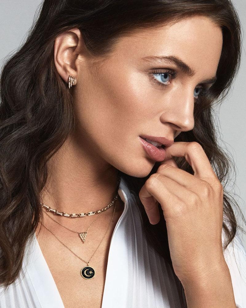 Sydney Evan 14k Cascade Fringe Pendant Necklace with Diamonds