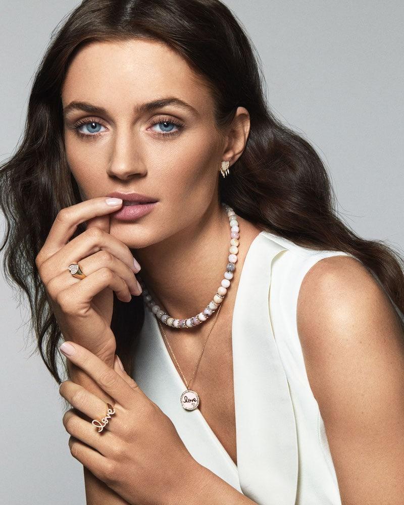 Sydney Evan 14k Gold Love Medallion Necklace with Enamel & Diamonds