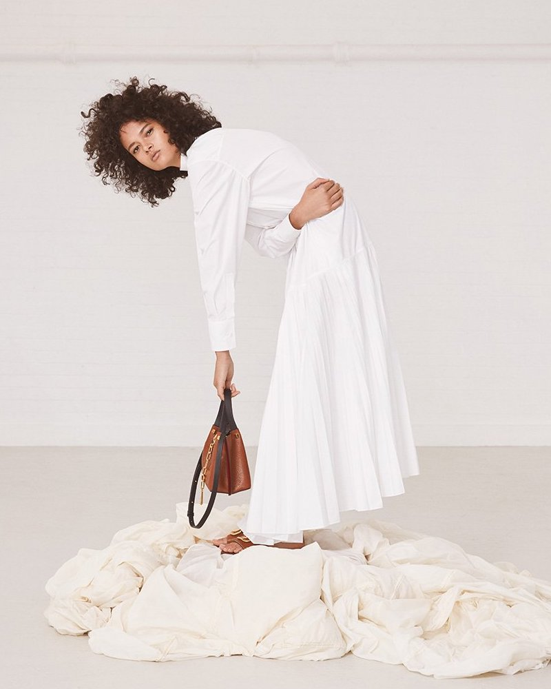 Valentino Drop-Waist Cotton-Poplin Shirtdress