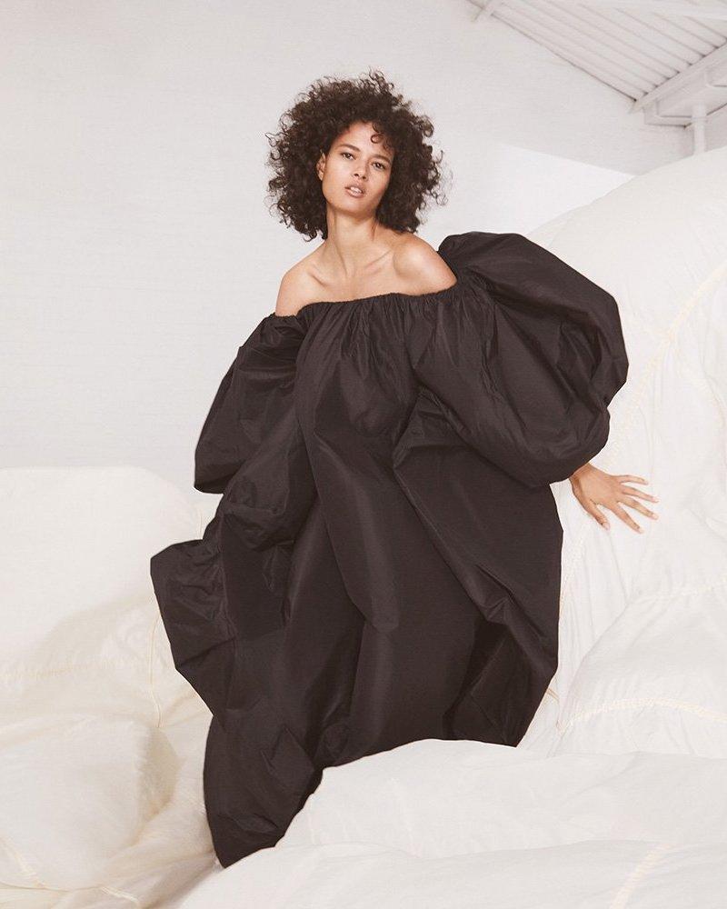 Valentino Off-the-Shoulder Silk-Taffeta Gown