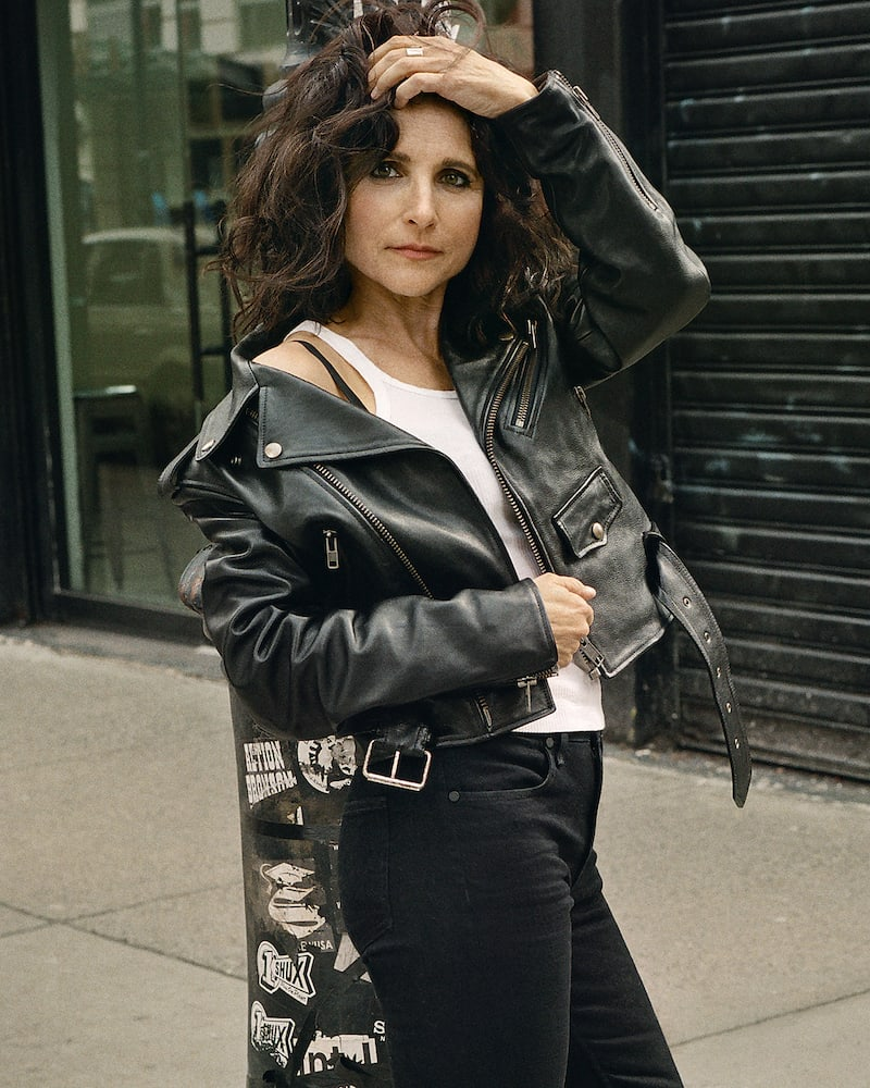 Balenciaga Printed Textured-leather Biker Jacket