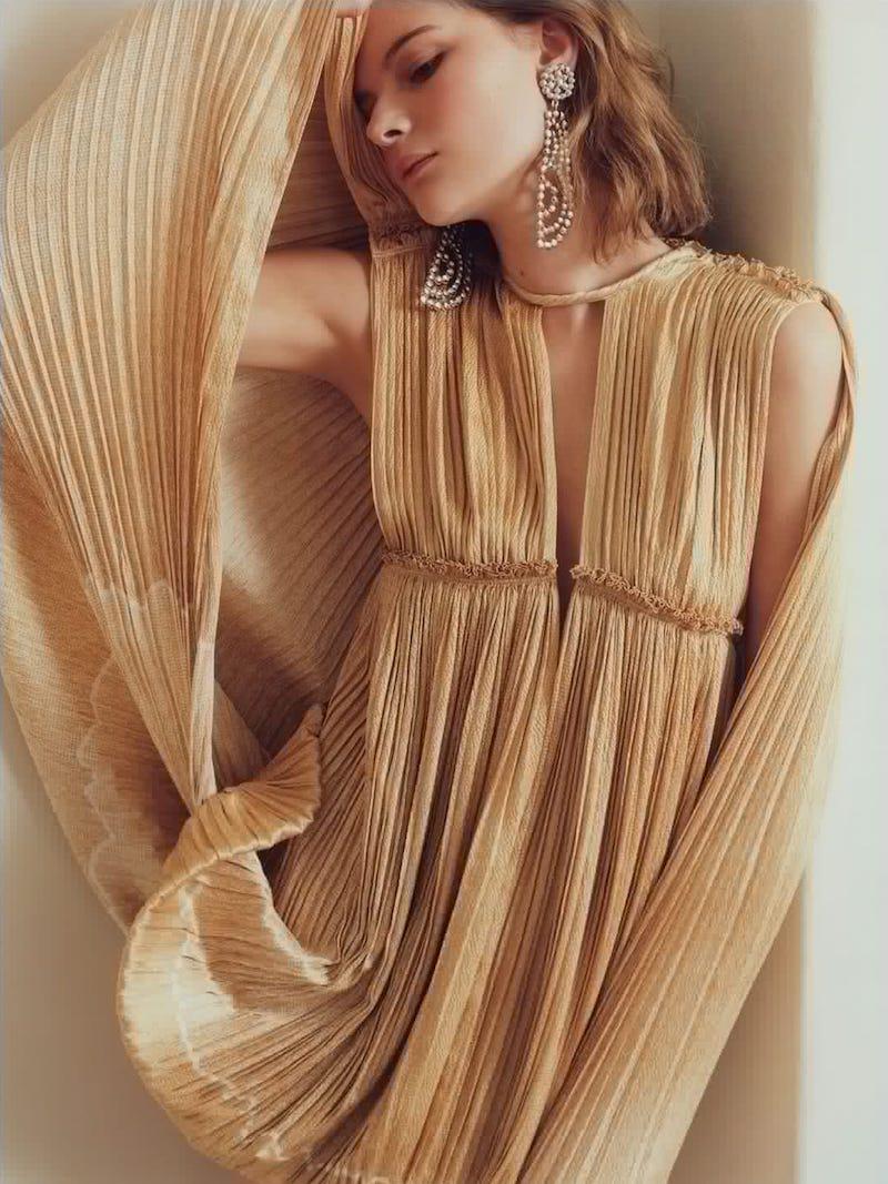 Chloé Dégradé Pleated Silk Mini Dress
