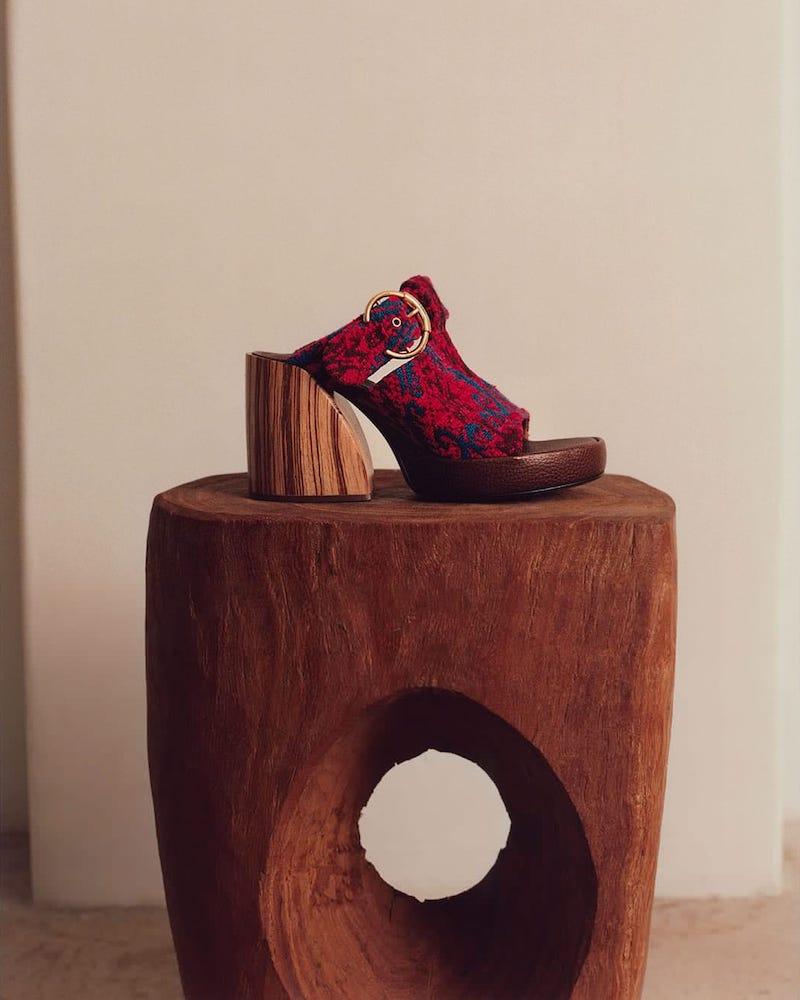Chloé Tapestry Platform Sandals