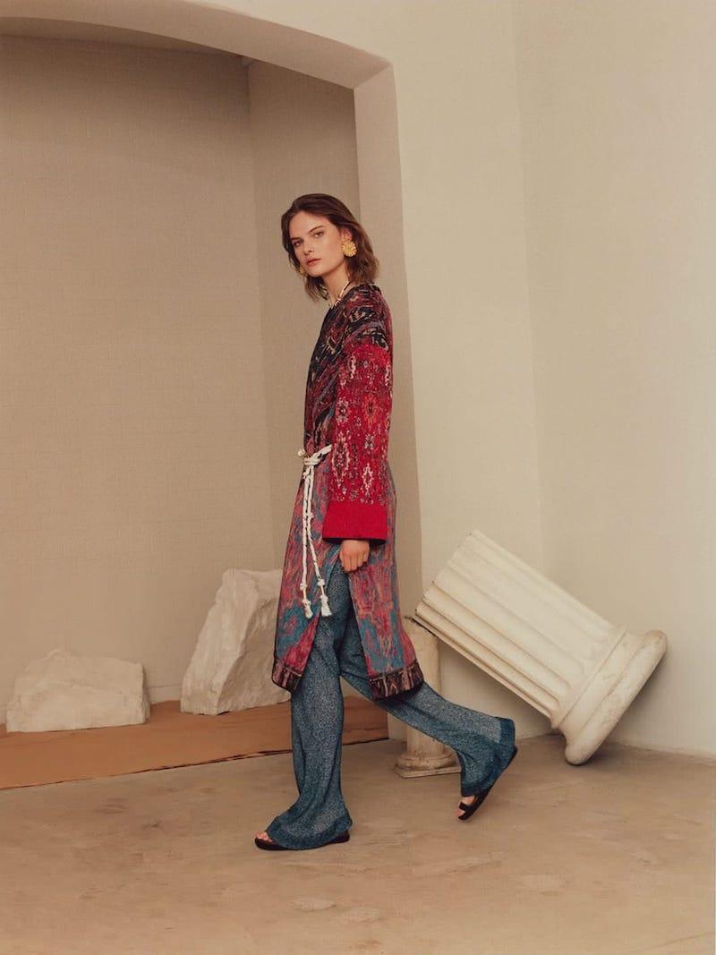 Chloé Tapestry Silk-Jacquard Coat