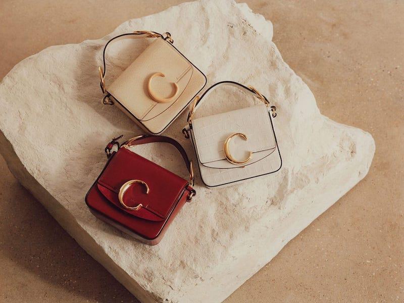 Chloé The C Crocodile-Embossed Mini Leather Shoulder Bag