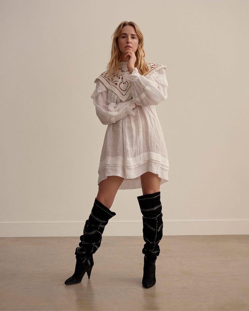 Isabel Marant Ghalia Lace-Panel Mini Dress