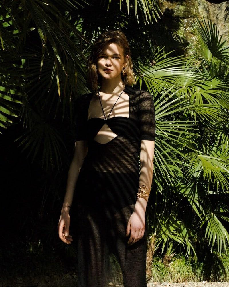 Jacquemus La Robe Piana Long Viscose Knit Dress