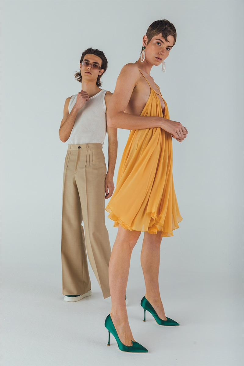 Jacquemus Ruffled Crepe Viscose Mini Dress
