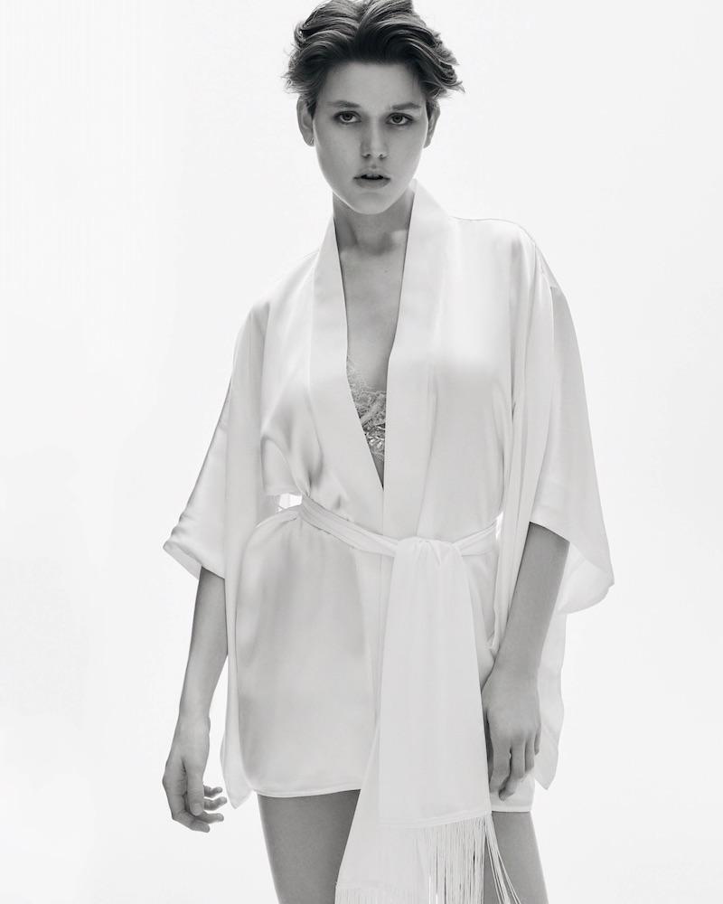 Kiki de Montparnasse Silk Kimono Robe