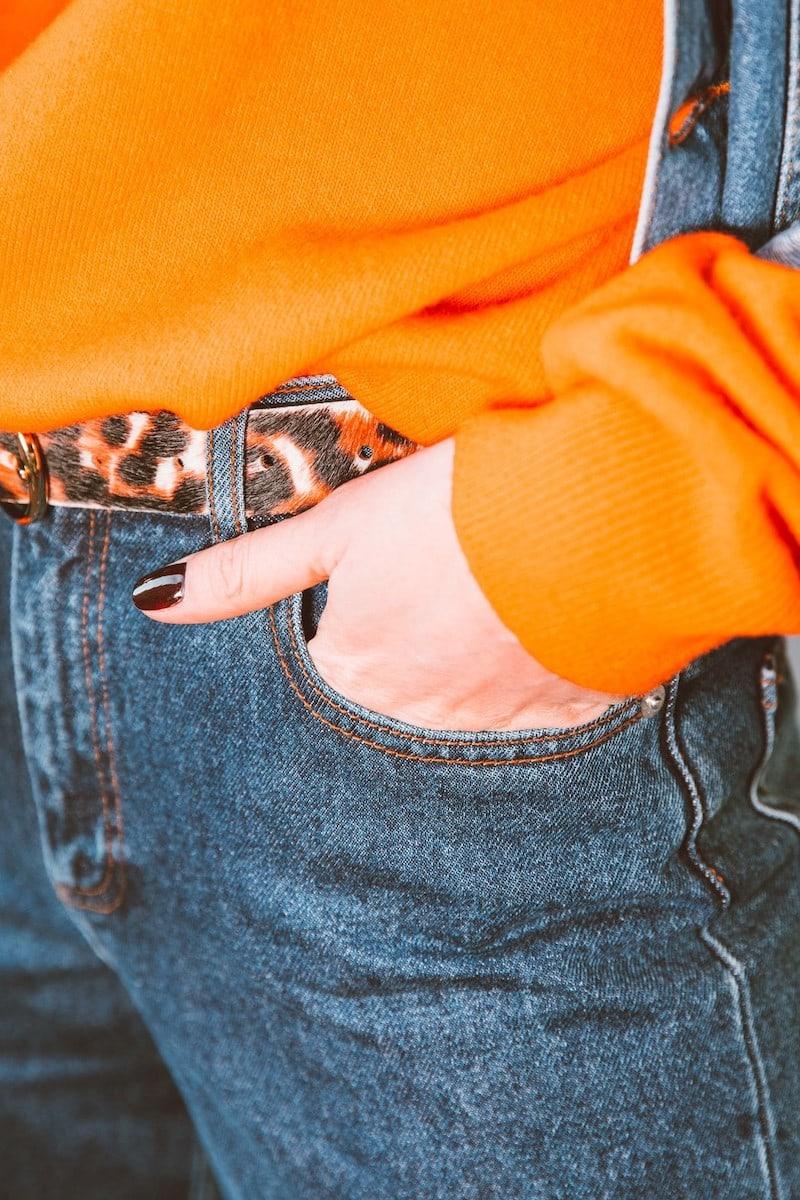 Maison Boinet Leopard Print Leather Belt