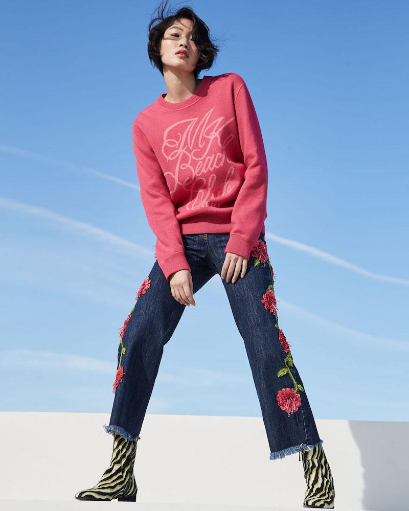 Michael Kors Collection Cotton/Cashmere Capri Beach Club Sweatshirt