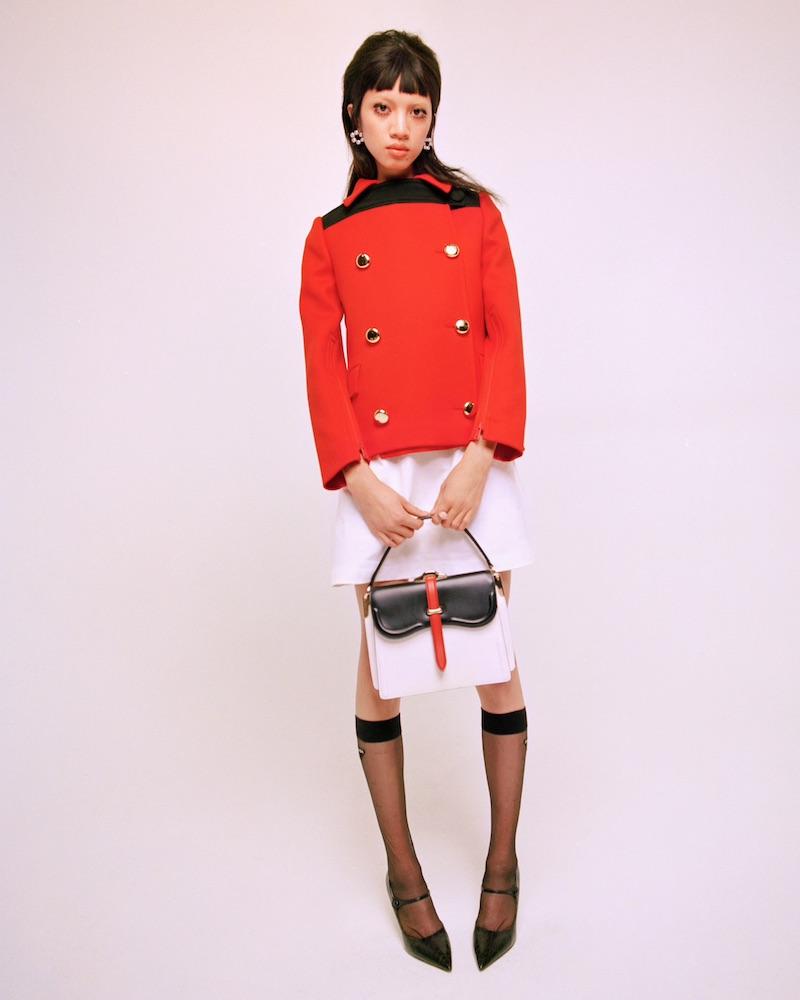 Prada Extended-Tab Wool Twill Jacket