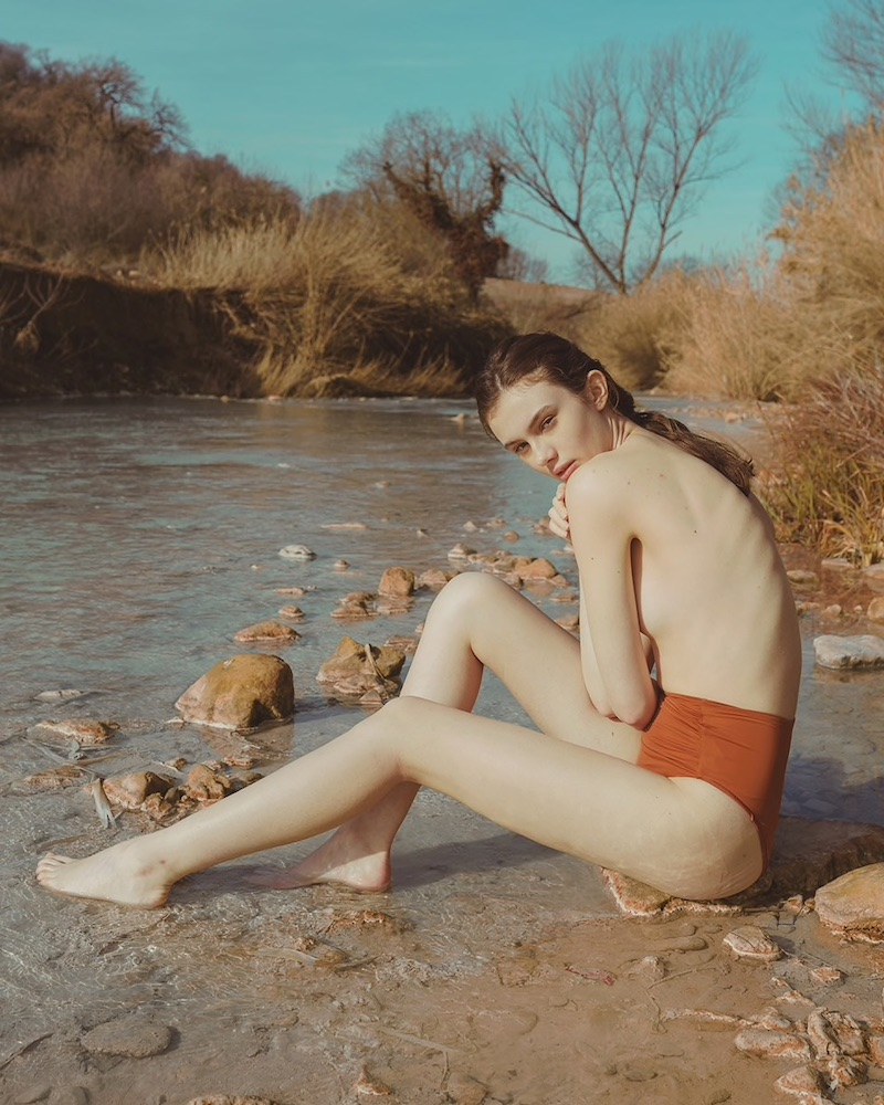 Self-Portrait Draped High Waist Bikini Bottoms