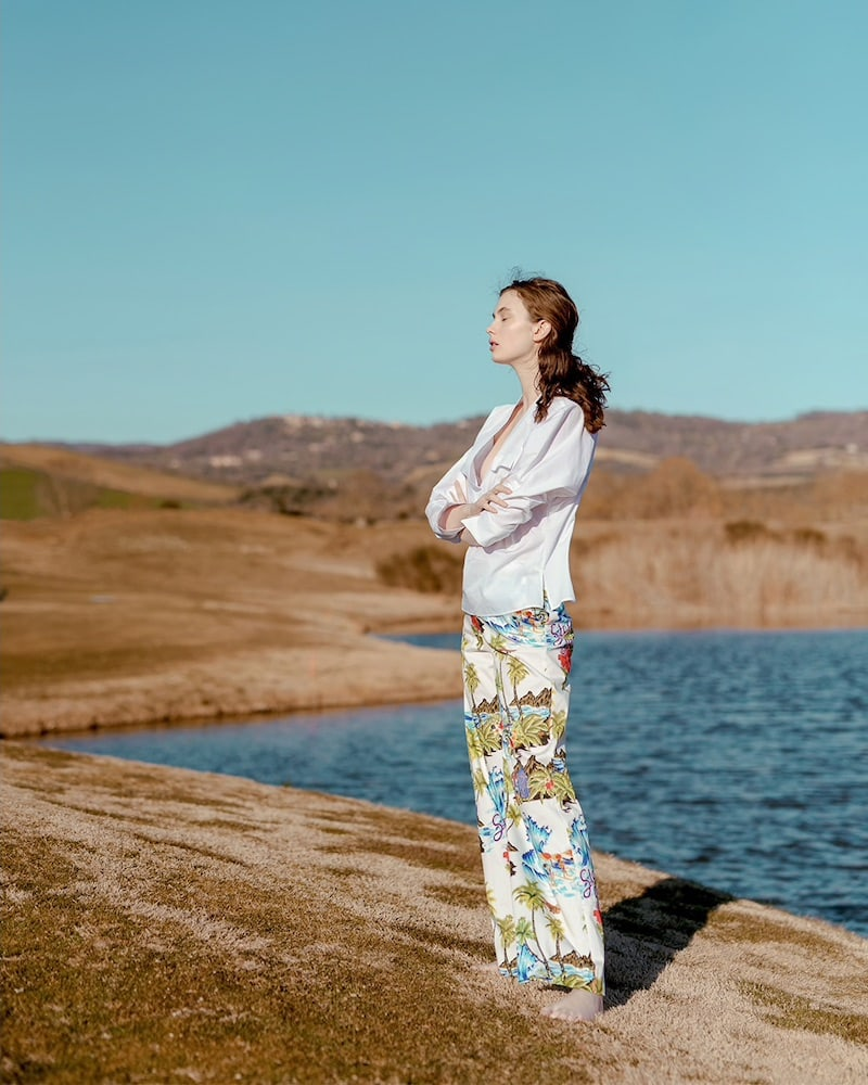 Stella Jean Floral Printed Cotton Trousers