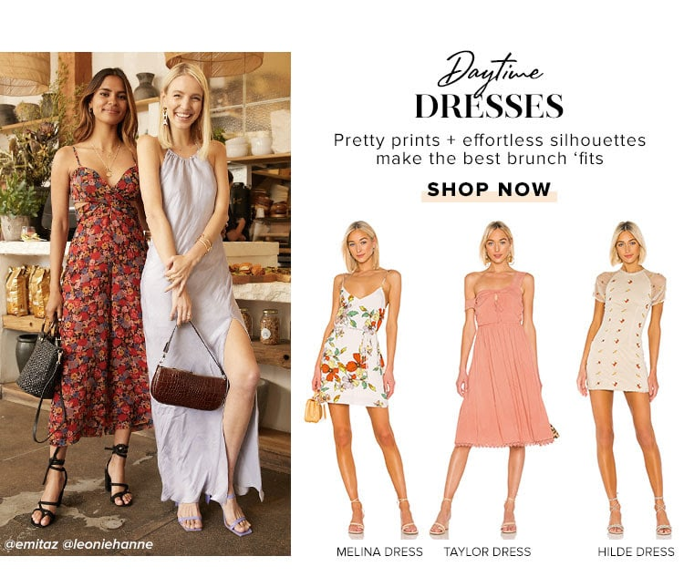 Daytime Dresses. Pretty prints + effortless silhouettes make the best brunch outfit. Shop now.