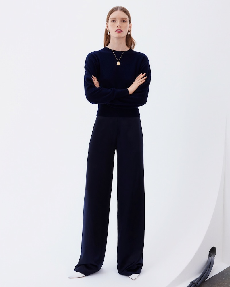Barneys New York Active Cashmere Crewneck Crop Sweater