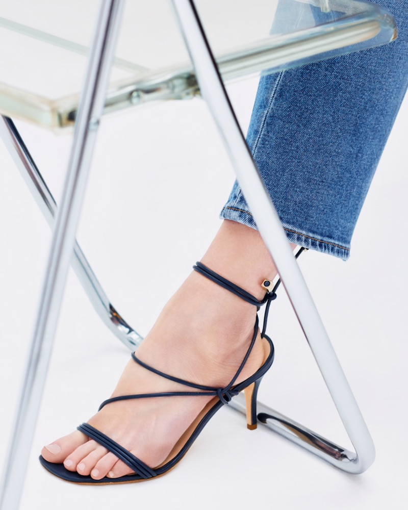 Barneys New York Selva Leather Ankle-Tie Sandals