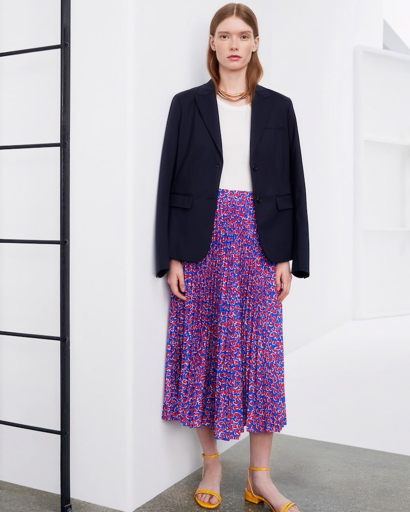 Barneys New York Virgin Wool Two-Button Blazer