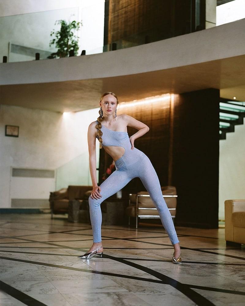 Fantabody Crystal Embellished Tulle Jumpsuit