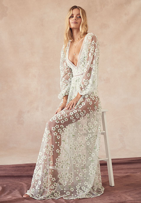 For Love & Lemons Eclair Maxi Dress