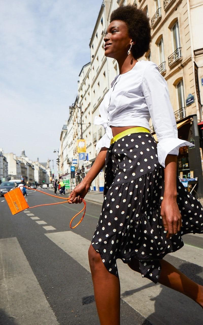 Koché Polka Dot Midi Skirt