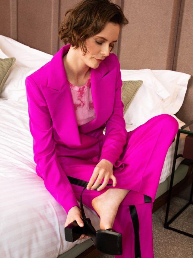 Koché Silk Blazer