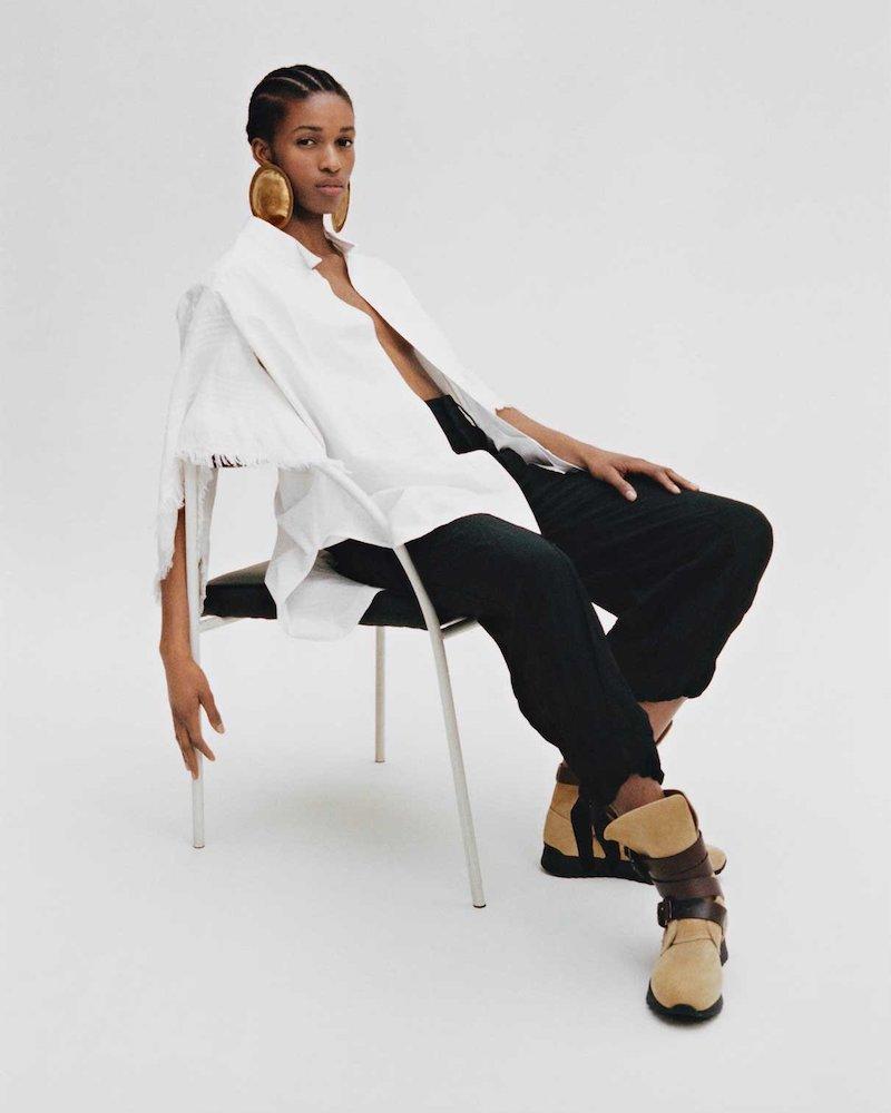 Loewe High-Rise Tie-Cuff Cargo Trousers