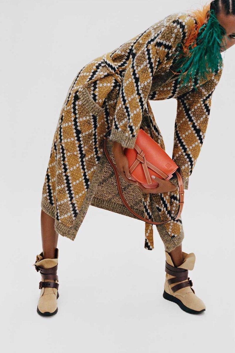 Loewe Jacquard-Knit Long Cardigan