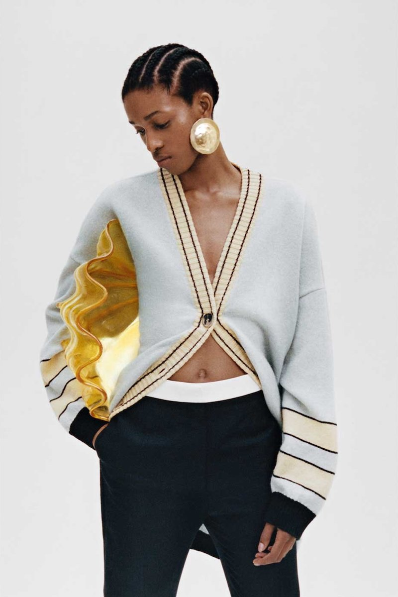 Loewe Oversized Stripe-Jacquard Wool Cardigan