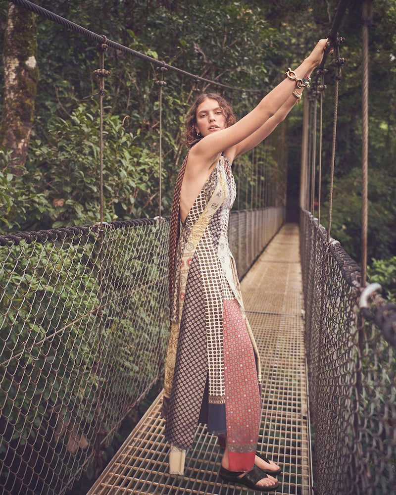 Loewe Scarf Patchwork Long Dress
