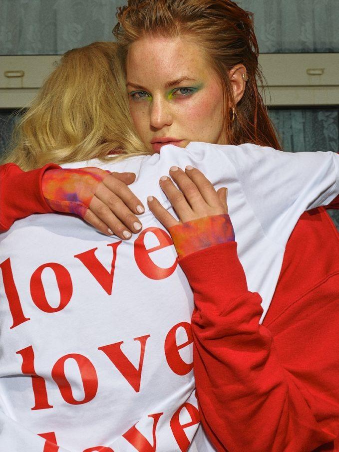 MSGM Love Printed Cotton Jersey T-Shirt