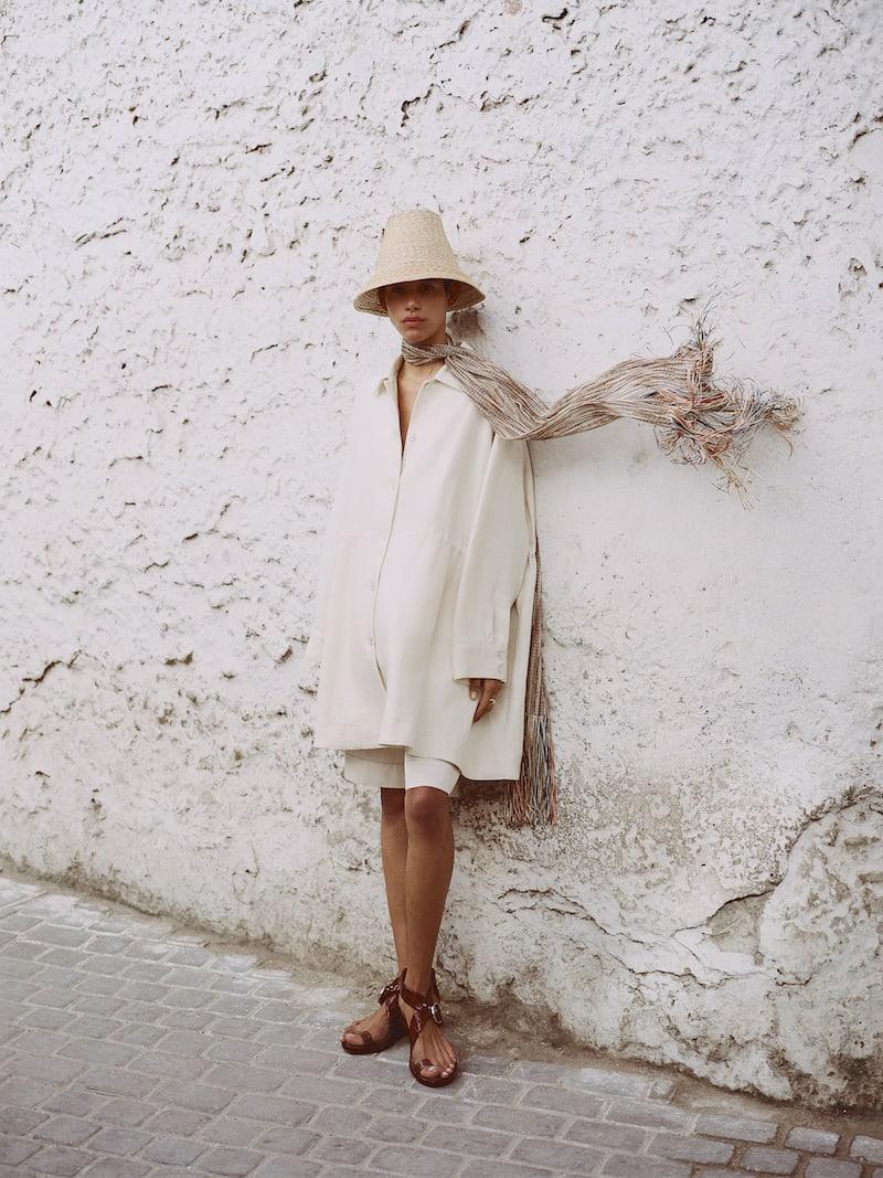 Mansur Gavriel Oversized Linen Coat