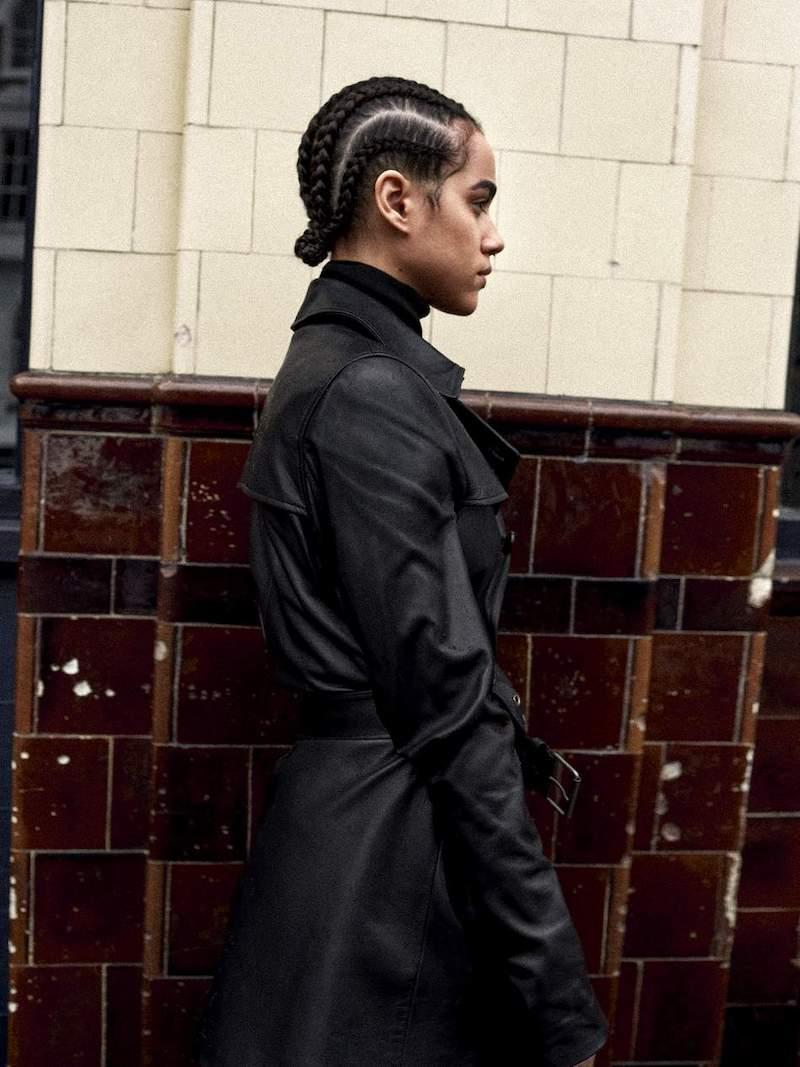 Nili Lotan Rose Leather Trench Coat