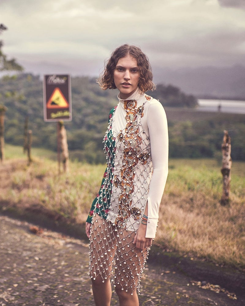 Paco Rabanne Crystal-Embellished Chain Dress