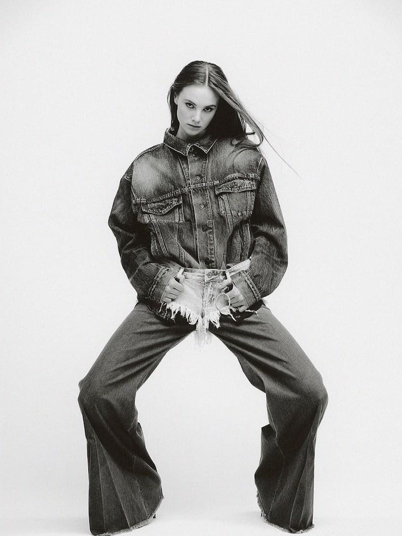Shaft Jeans Milly Wide Leg Stretch Denim Jeans