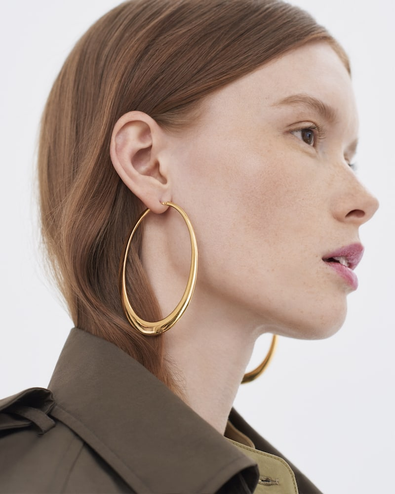 Sidney Garber Crescent Hoop Earrings