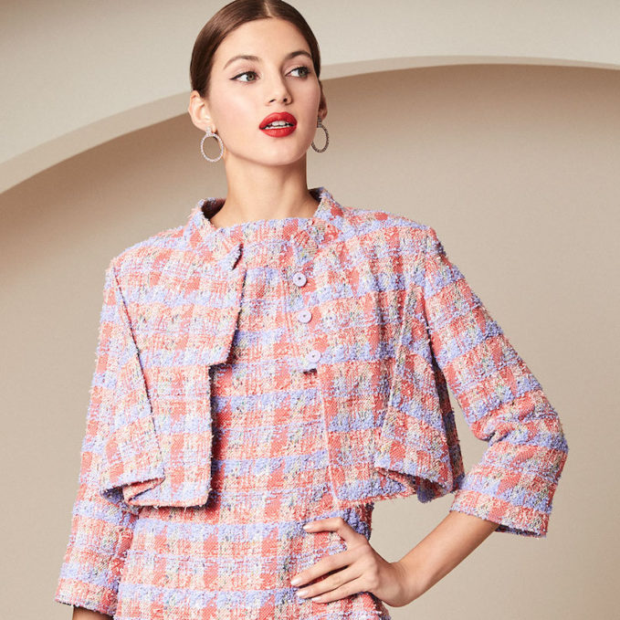 Zac Posen Cropped Tweed Jacket