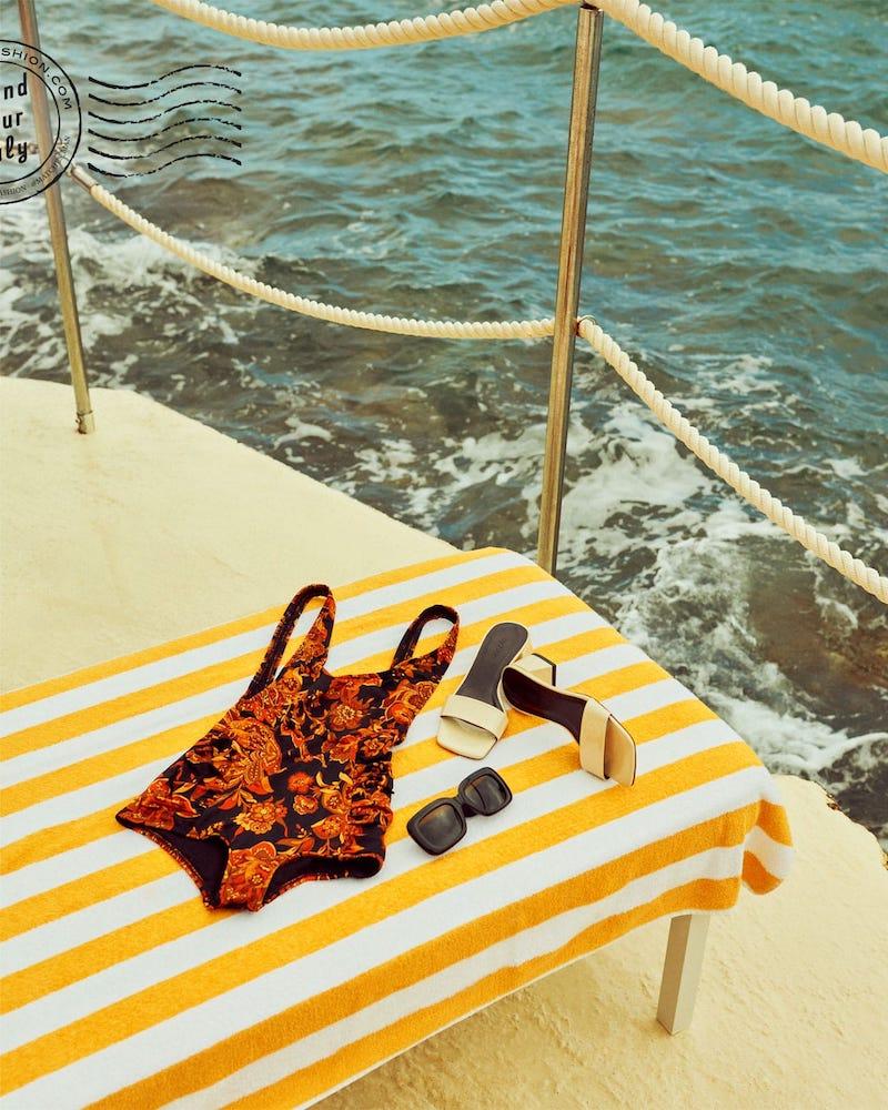 Dodo Bar or Adinna Paisley-Print Swimsuit