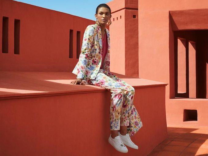 Escada Garden Floral-Print Jacket