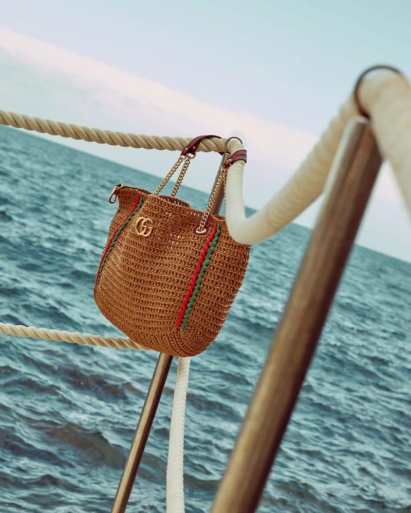Gucci Large GG Marmont macramé Tote Bag