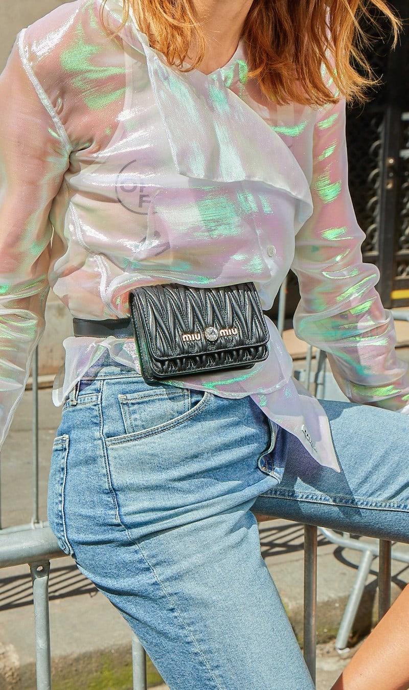 Miu Miu Velvet Matelassé Belt Bag