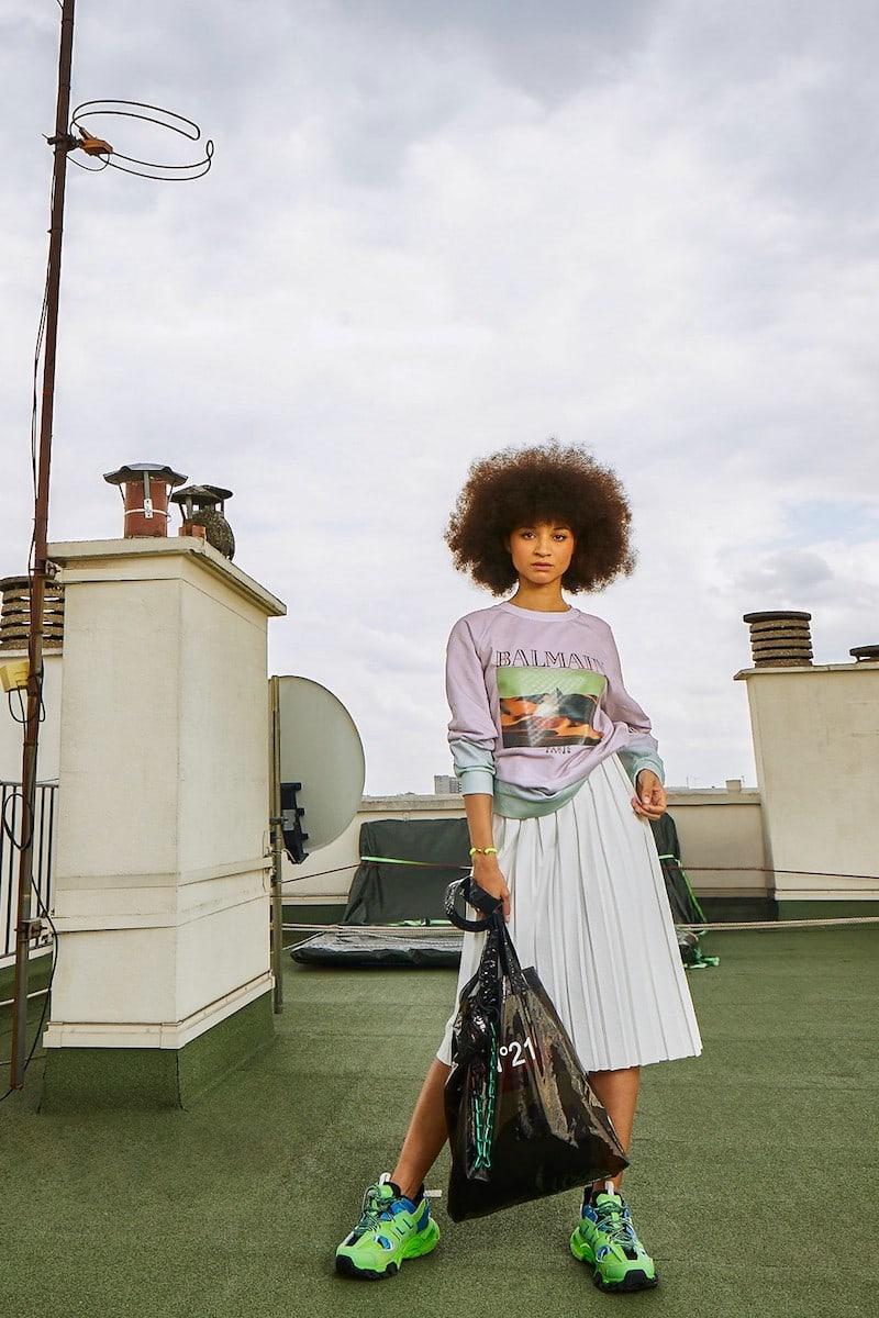 Plan C Pleated Midi Skirt