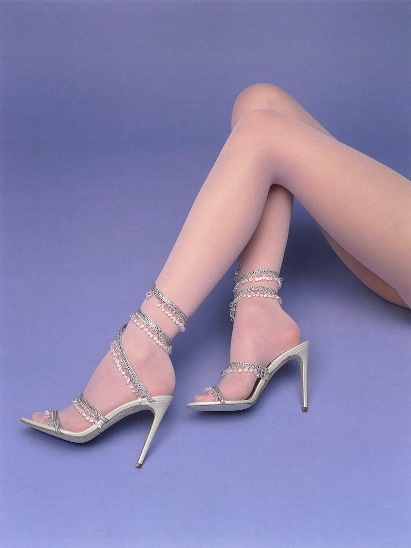 René Caovilla 105mm Cleo Chandelier Embellished Satin Sandals