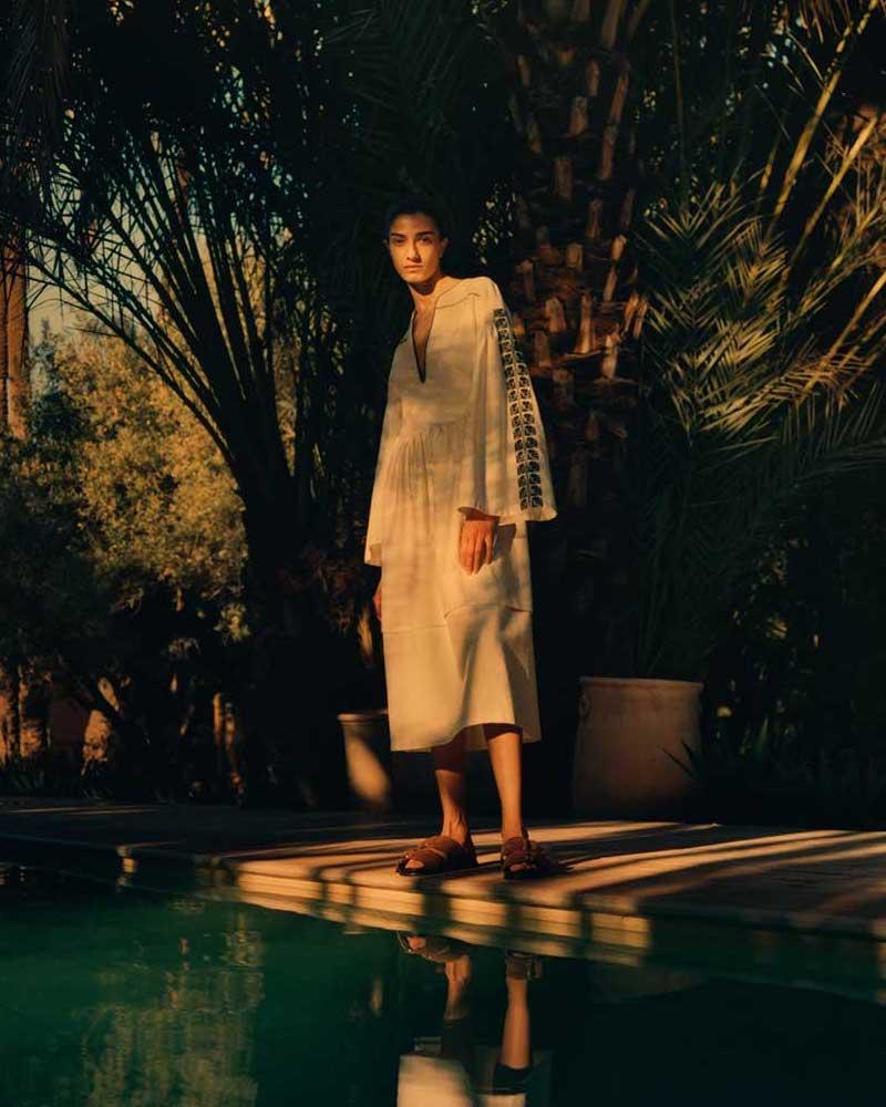 Zeus + Dione Astypalaia Slubbed-Silk Midi Dress