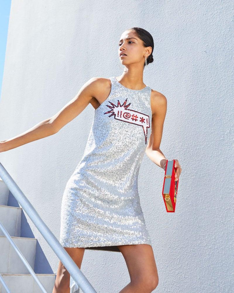 Aidan by Aidan Mattox Sequin Applique Sleeveless Mini Dress