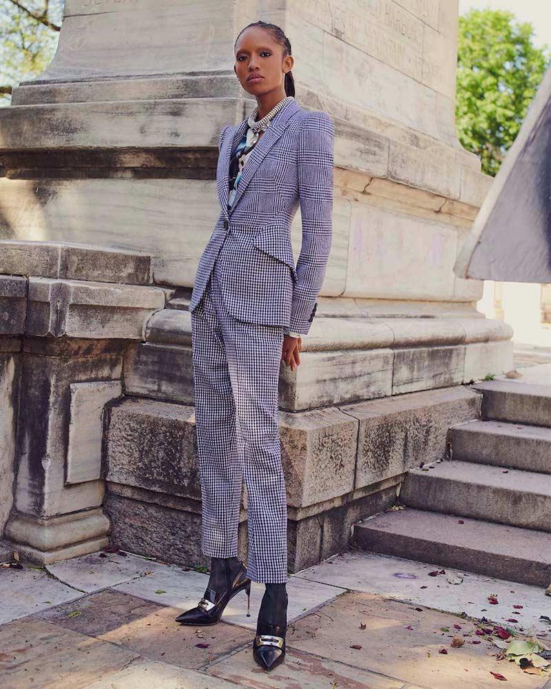 Alexander McQueen Prince of Wales & Houndstooth Blazer